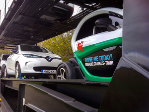 Renault ZOE and Twizy arrive in Brecon